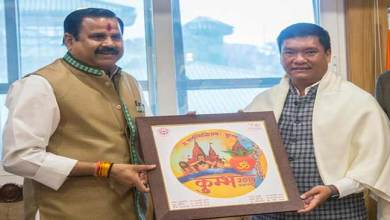 Khandu gets invitation from UP CM to attend the Prayagraj Kumbh Mela 2019