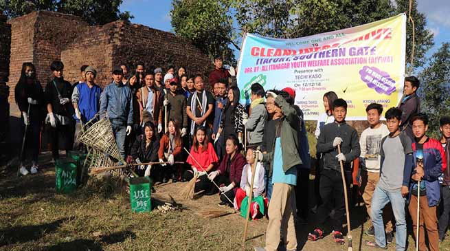 Itanagar:  Mass cleaning  drive at Itafort