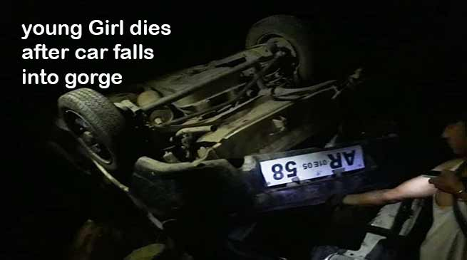 Itanagar:  young Girl dies, 2 injured as car falls into gorge