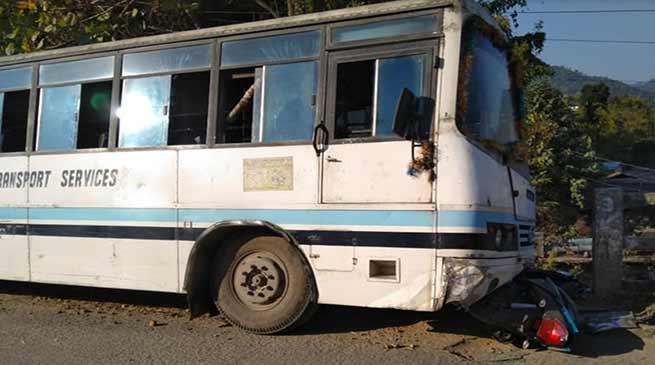 Itanagar:5 Injured after APST bus met with an accident in Chandanagar