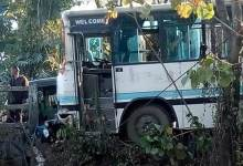 Itanagar: 5 Injured after APST bus met with an accident in Chandanagar