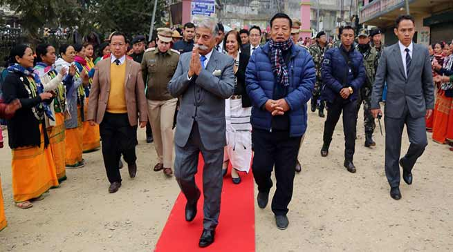 Arunachal Governor visits Lepa Rada District