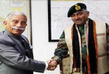 Itanagar:  GOC 5 Mtn Div calls on the Governor