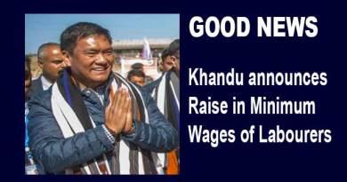 Arunachal: Khandu announces Raise in Minimum Wages of Labourers