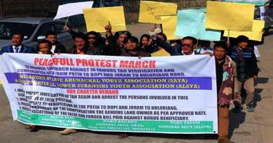 Arunachal: SAYA demand action on TAH land compensation issue