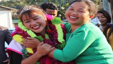 Photo of Arunachal: Techi Chaya Nabam gets warm welcome on her arrival in Nyorch village