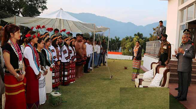 Arunachal Governor hosted 'At Home' with School Children on the eve of Republic Day