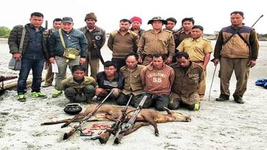 Photo of Arunachal: Five illegal hunters arrested alongwith hunted hog dear, and arms