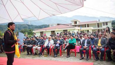 Photo of Arunachal: Khandu visits under construction building of VKV school at Ramsing village