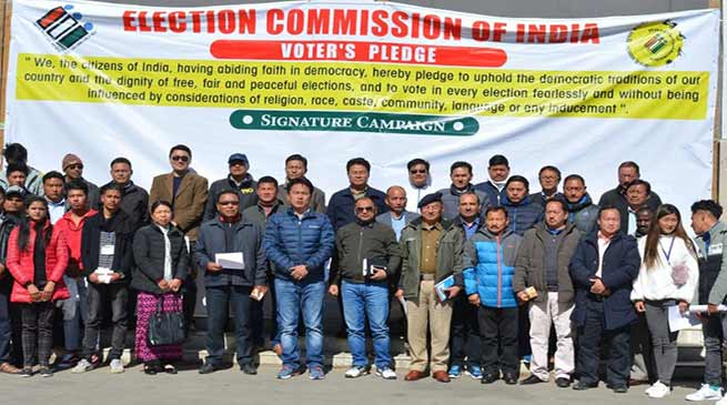 Arunachal: National Voter's day was observed in Tawang