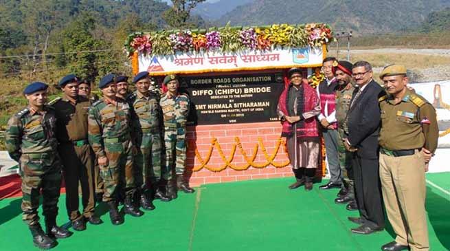 Arunachal: Nirmala Sitaraman dedicates Diffo bridge to nation