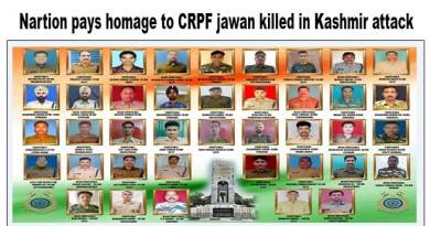 Nation pays homage to Slain CRPF personnel killed in Kashmir attack