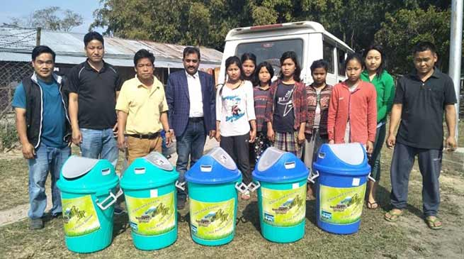 Arunachal: DMP distributes Dustbin to school, Provides Training to Framers