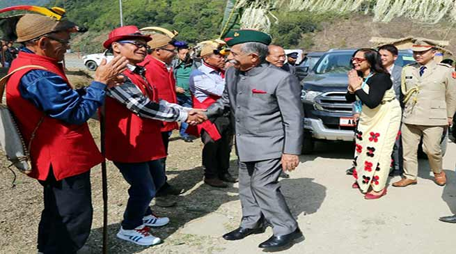 Arunachal Governor visits Pakke Kessang District