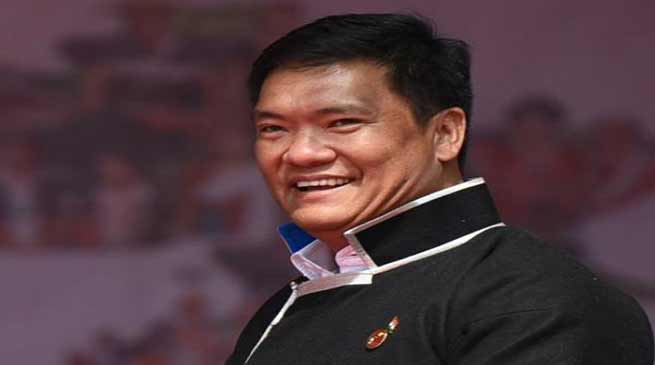 Arunachal CM appeals citizens to come and listen to PM Modi at IG Park