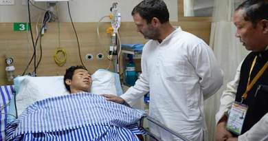 Congress president Rahul Gandhi Meets Arunachal Violence Hit Patients