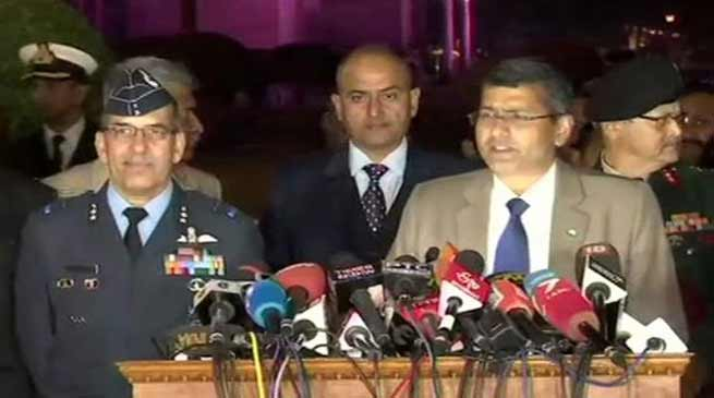 Indian Army, IAF and Navy's joint press conference -LIVE UPDATE
