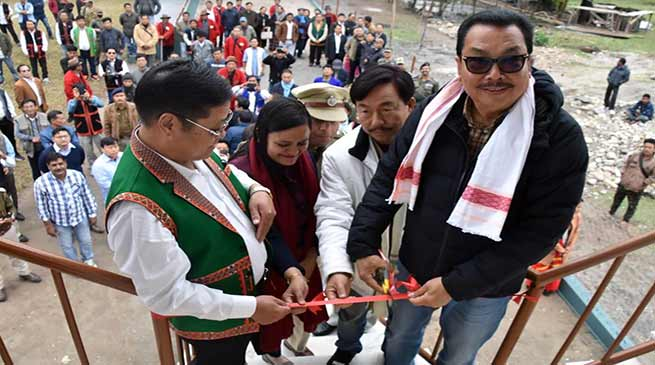 Arunachal: Chowna Mein inaugurates play ground at Motum