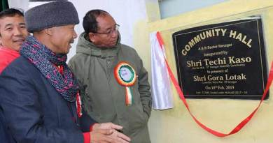 Itanagar : Kaso inaugurates Community hall in AB Sector