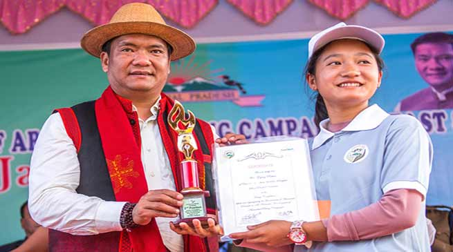 Arunachal CM felicitates Asha, Anganwadi workers at Kiyit Village
