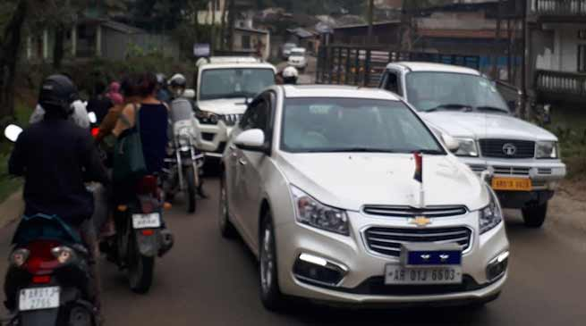 Itanagar: Massive traffic jam experienced, commuters faced untold suffering