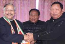 Itanagar: Former Home Minister James L Wanglat joins congress