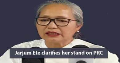Itanagar: Jarjum Ete clarifies her stand on PRC