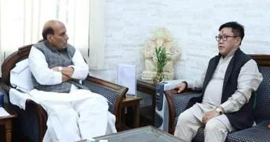 Arunachal: Kumar Waii meet Rajnath Singh