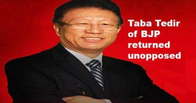Arunachal polls: Taba Tedir of BJP returned unopposed