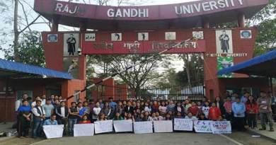 Arunachal: Bharat Bandh at Rajiv Gandhi Central University