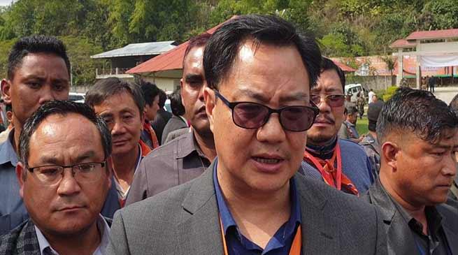 Arunachal: Congress played double role on PRC issue, alleged Kiren Rijiju