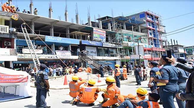 Arunachal: mock drill on earthquake disaster was organised in Nirjuli