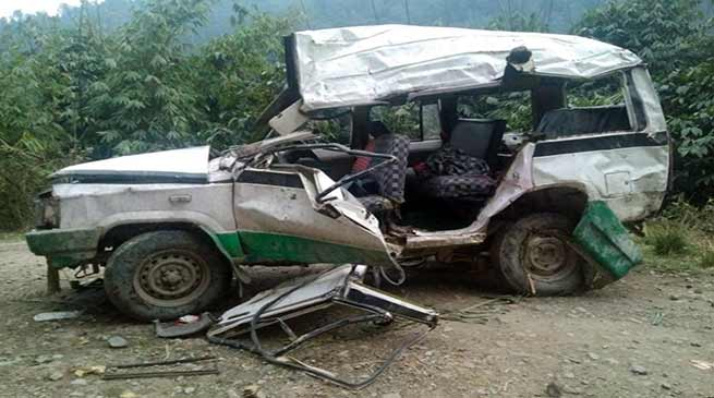 Arunachal: 2 killed, 8 injured in Tata Sumo accident at Kimi