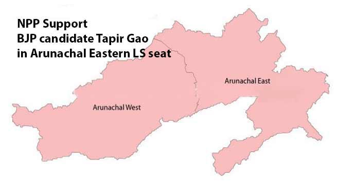 Arunachal Polls: NPP Support BJP candidate Tapir Gao in Arunachal Eastern LS seat