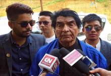 Photo of Film star Asrani arrives state to campaign for former CM and INC candidate Nabam Tuki