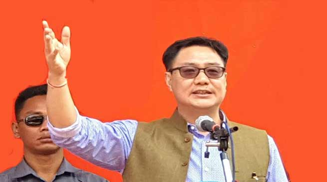 Arunachal Elections: Recent PRC fiasco was handiwork of opposition- Kiren Rijiju