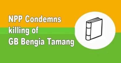 Arunachal: NPP Condemns killing of GB Bengia Tamang