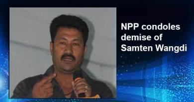 Arunachal: NPP condoles demise of Samten Wangdi