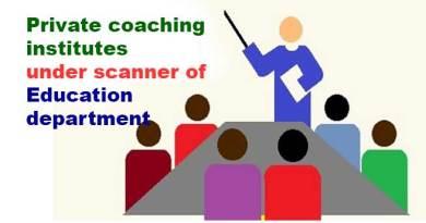 Itanagar: private coaching institutes under scanner of Education department