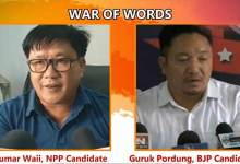 Arunachal:  WAR OF WORDS between Kumar Waii and Guruk Pordung
