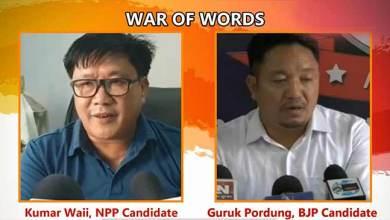 Photo of Arunachal: WAR OF WORDS between Kumar Waii and Guruk Pordung