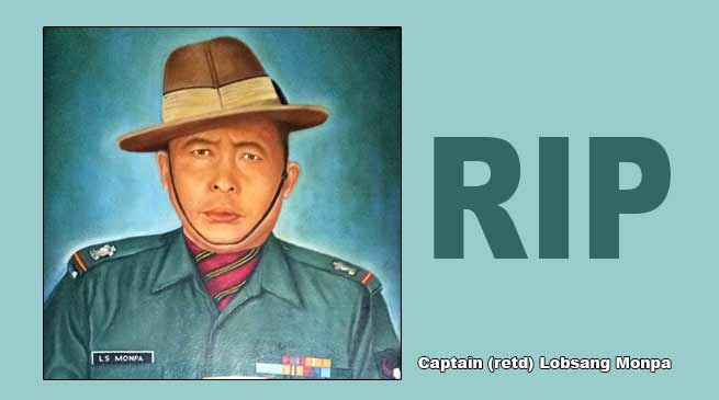 Arunachal: Captain (retd) Lobsang Monpa passes away