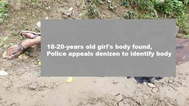 Photo of Itanagar: 18-year-old girl's body found, Police appeals denizens to identify body