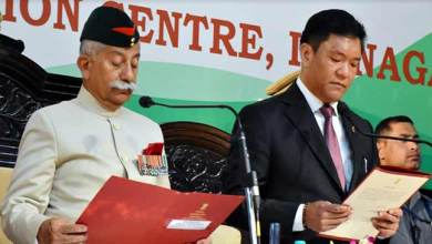 Photo of Pema Khandu sworn-in as the Chief Minister of Arunachal Pradesh