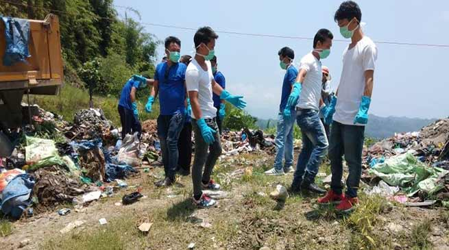 Arunachal:ASWA, BKYWA clean garbage from NH-415