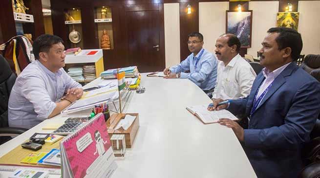 Itanagar: NABARD GM Dr Gopa Kumaran Nair calls on CM Pema Khandu