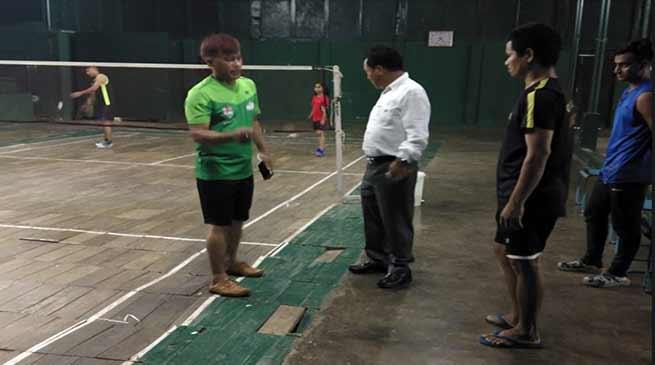 Rajbhawan Indoor Badminton stadium in pathetic condition
