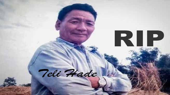 Arunachal: Social worker Teli Hade passes away