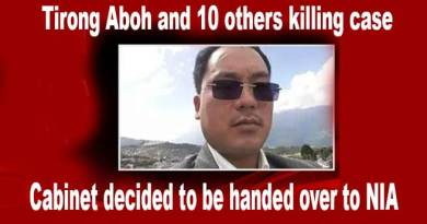 Khandu's cabinet decides Tirong Aboh and others killing case to be handed over to NIA