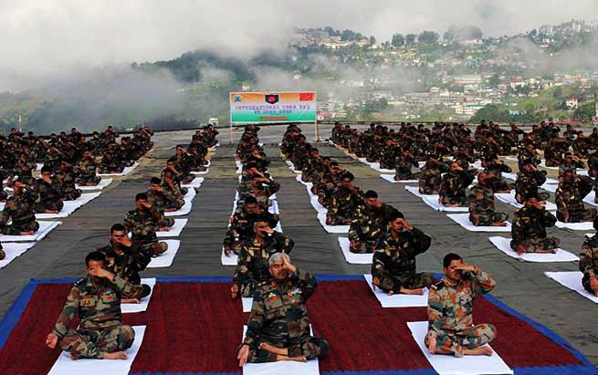 5th International Yoga Day: Indian and Chinese Army jointly celebrates along the LAC